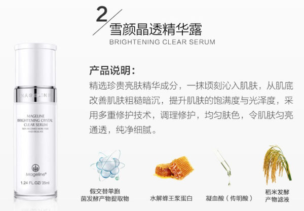 Mageline Brightening Crystal Clear Skincare Set