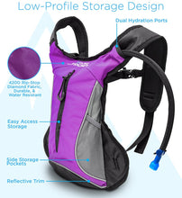 HYDRATION BACKPACK [HYDRO-PRO], 1.5L / 2L / 3L BPA FREE WITH WATER BLADDER