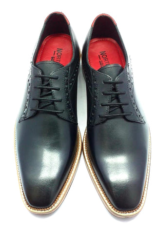 Ribble leather derby in classy black
