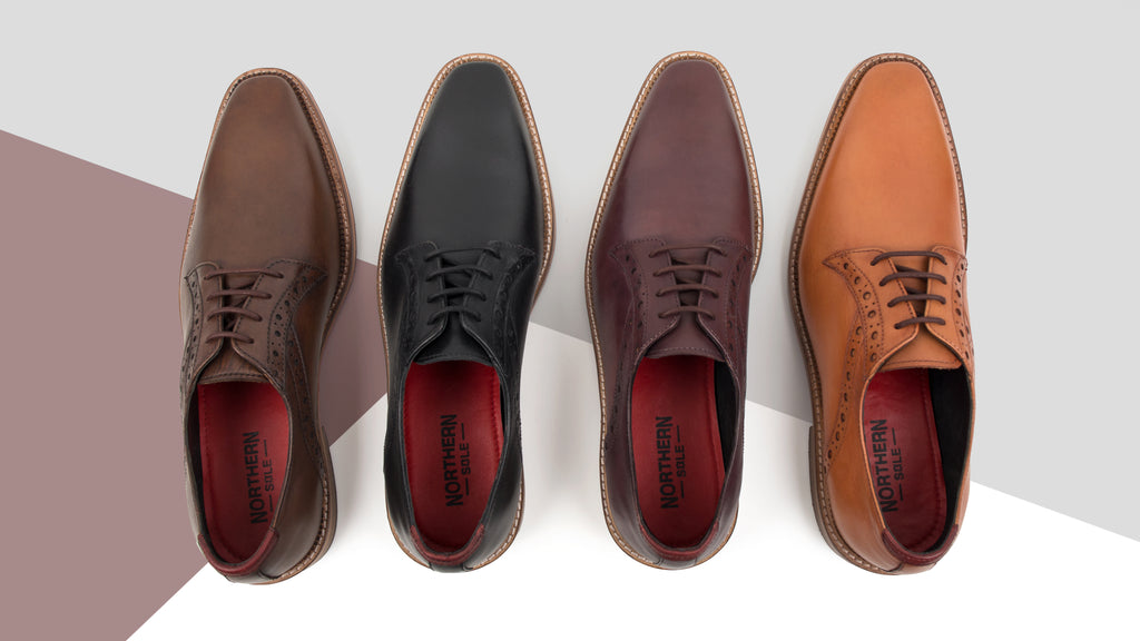 men's hand dyed footwear, leather derby shoe, plimsoll, chelsea boot, leather oxford brogue, leather slip on loafer all hand dyed in the colour of your choice.