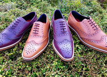 Load image into Gallery viewer, KIRK ; LEATHER OXFORD BROGUE SHOE HAND DYED IN A COLOUR OF YOUR CHOICE - northern sole footwear