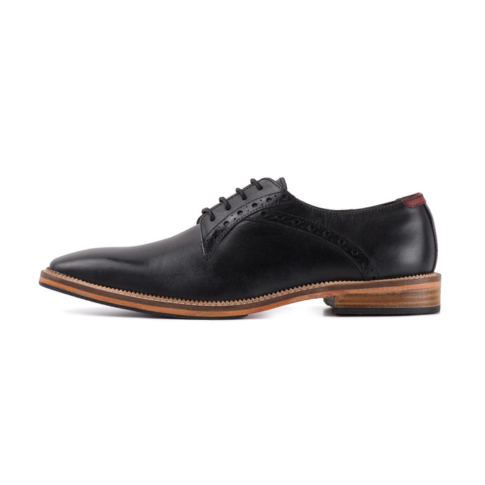 RIBBLE ; LEATHER DERBY SHOE IN CLASSIC BLACK - northern sole footwear