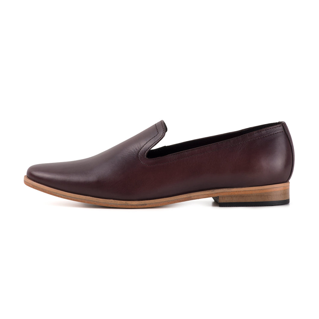 PLAYA ; LEATHER SLIP ON LOAFER HAND DYED IN A COLOUR OF YOUR CHOICE - northern sole footwear