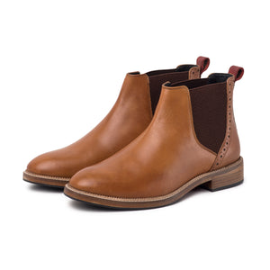 JACK ; LEATHER CHELSEA BOOT HAND DYED IN STUNNING TAN - northern sole footwear