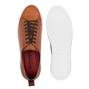 PRINCE ; SMART LEATHER PLIMSOLL HAND DYED IN TAN - northern sole footwear