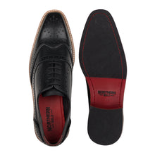 Load image into Gallery viewer, KIRK ; LEATHER OXFORD BROGUE IN CLASSIC BLACK - northern sole footwear