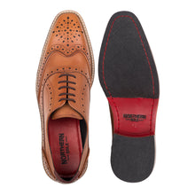 Load image into Gallery viewer, KIRK ; LEATHER OXFORD BROGUE HAND DYED IN STUNNING TAN - northern sole footwear