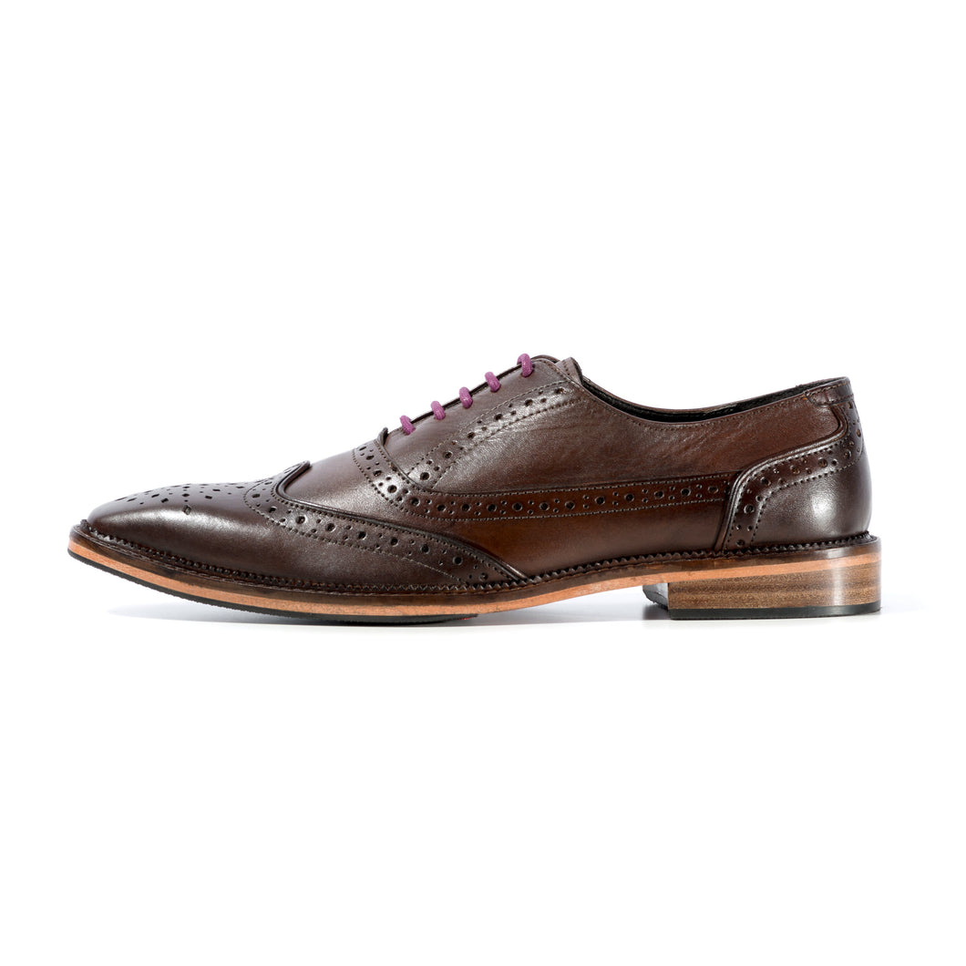 KIRK BROGUE IN ANTIQUED RICH BROWN SIZE 7 - northern sole footwear