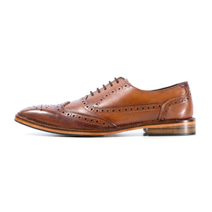 KIRK BROGUE IN ANTIQUED RICH TAN SIZE 10 - northern sole footwear