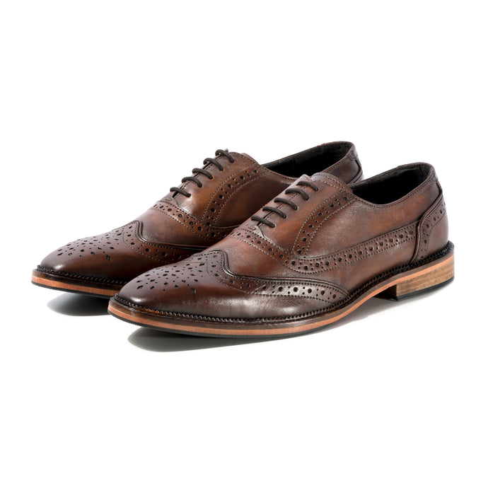 KIRK BROGUE IN CUSTOM BROWN AND BRONZE METALLIC - northern sole footwear
