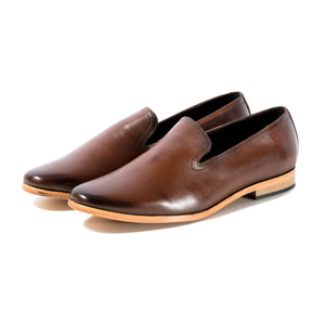 PLAYA LEATHER LOAFER IN CUSTOM BURNISHED TAN SIZE 11 - northern sole footwear