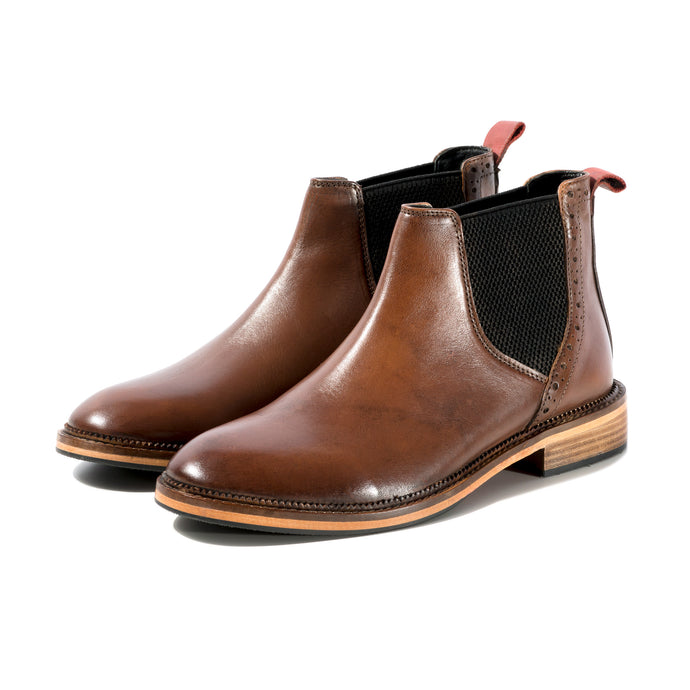 JACK CHELSEA BOOT IN BURNISHED TAN SIZE 7 - northern sole footwear