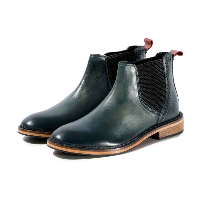 JACK CHELSEA BOOT IN BLUE GREEN SIZE 8 - northern sole footwear