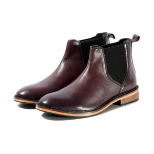 JACK CHELSEA BOOT IN ANTIQUED BORDO SIZE 8 - northern sole footwear