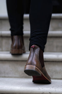 JACK ; LEATHER CHELSEA BOOT HAND DYED IN A COLOUR OF YOUR CHOICE