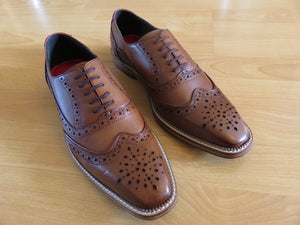 KIRK ; LEATHER OXFORD BROGUE SHOE HAND DYED IN A COLOUR OF YOUR CHOICE - northern sole footwear