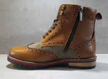 Load image into Gallery viewer, EDISFORD ; LEATHER AND TWEED BROGUE BOOT - northern sole footwear