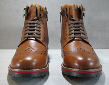 Load image into Gallery viewer, PENDLE ; LEATHER BROGUE BOOT IN RICH TAN - northern sole footwear