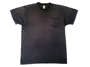 Roebucks Faded Black Pocket T-Shirt