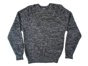 Black Heather Washed Sweater