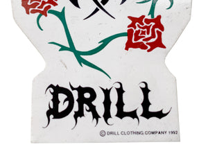 Drill Clothing Tribal Rose Sticker