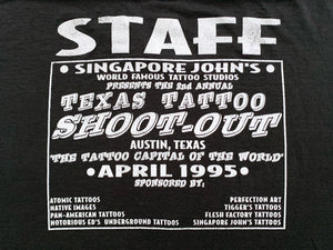 Skin Art Magazine x Texas Tattoo Shoot-Out 1995 Staff T-Shirt