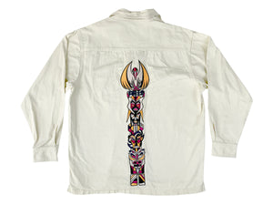 Pelle Pelle Embroidered Button Down Shirt