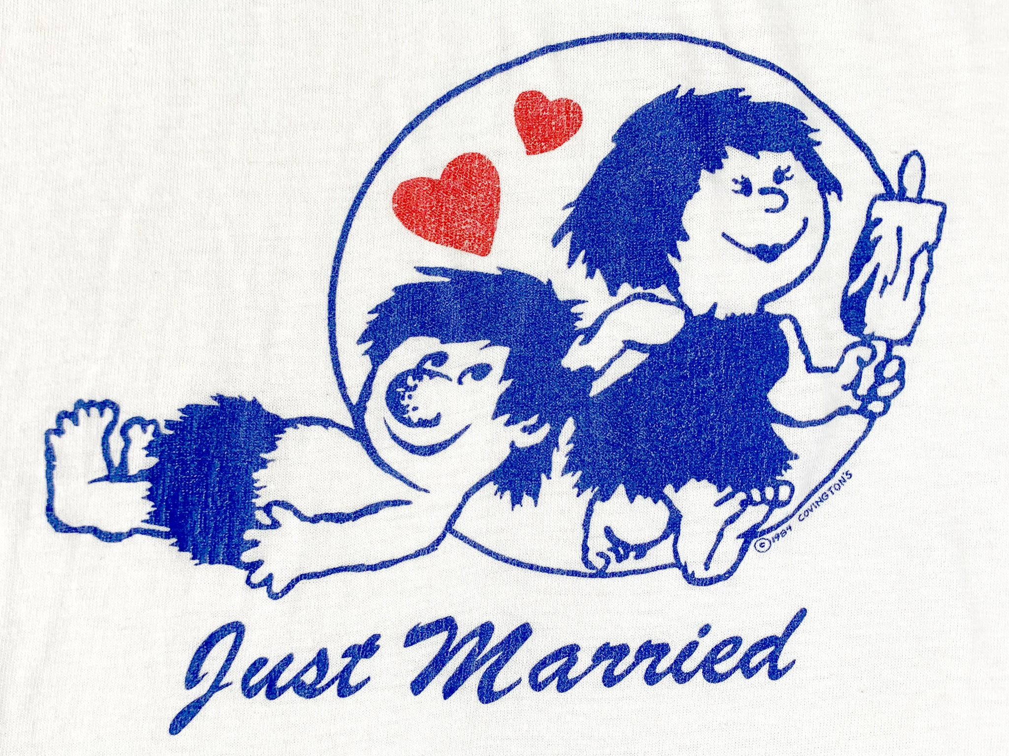 Just Married Caveman Ringer T-Shirt