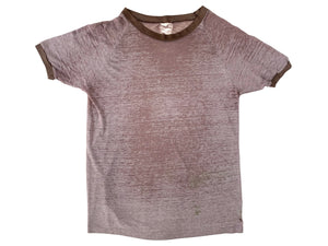 Thrashed & Thin Brown Ringer T-Shirt