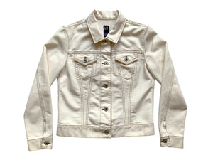 Gap Denim Off White Trucker Jacket