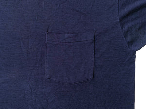 Blue Blank Pocket T-Shirt (Large)