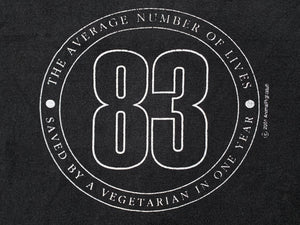 Vegetarian 83 Lives Saved a Year L/S T-Shirt
