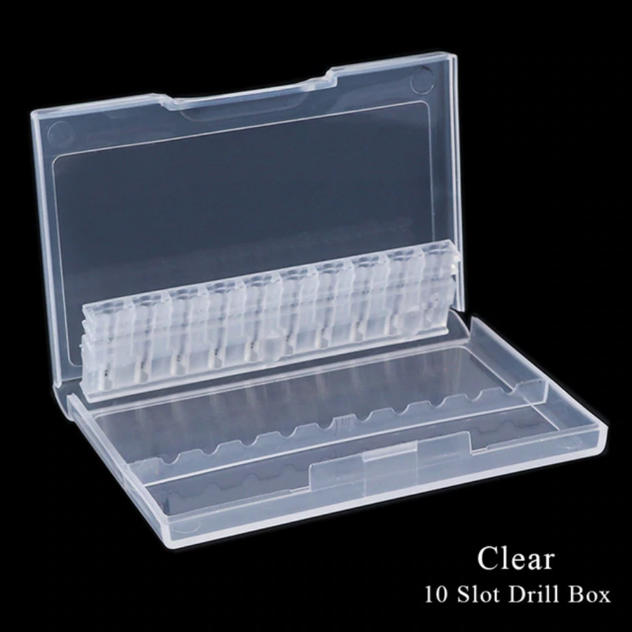 Clear Nail Drill Bit Case (10 Holes)