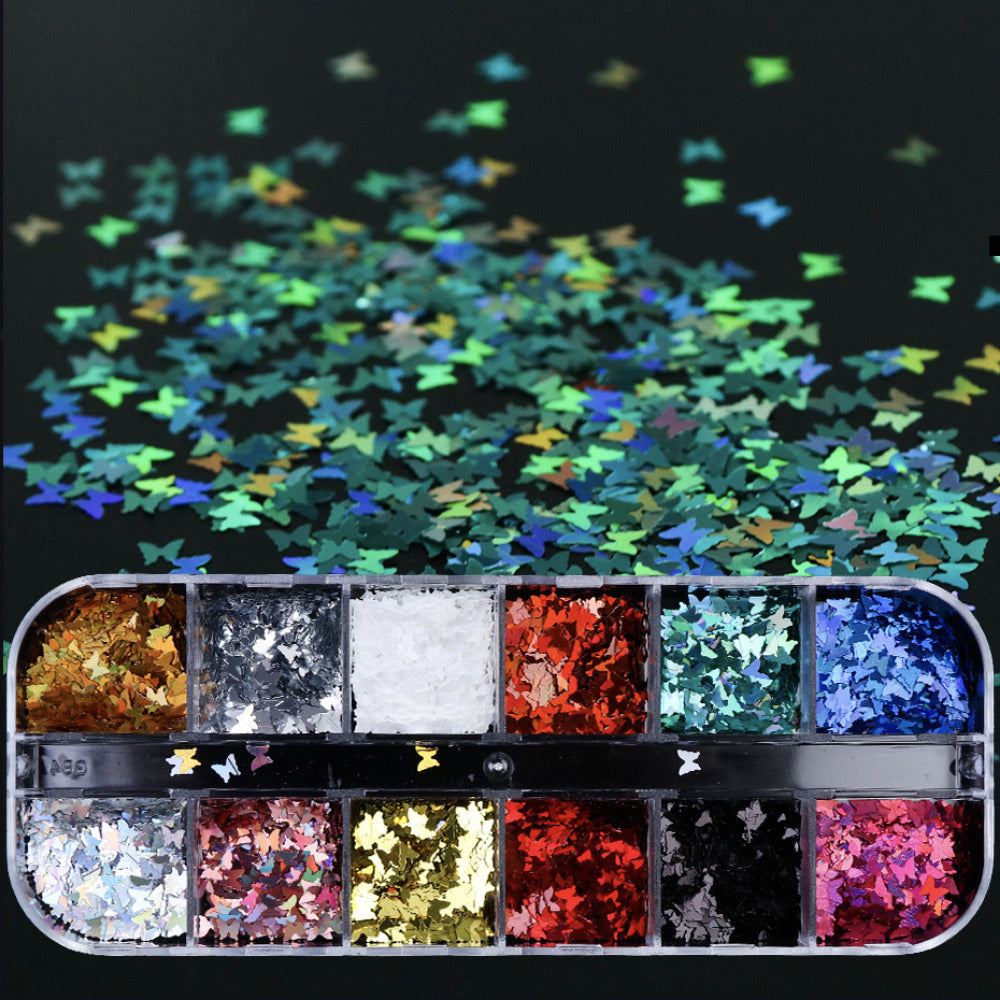 Butterfly Glitter 12 Holographic Colours