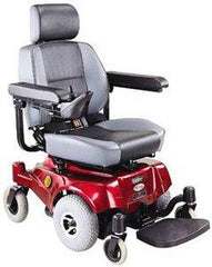 Compact Mid-Wheel Drive Power Chair, Burgundy - Spirit Mobility