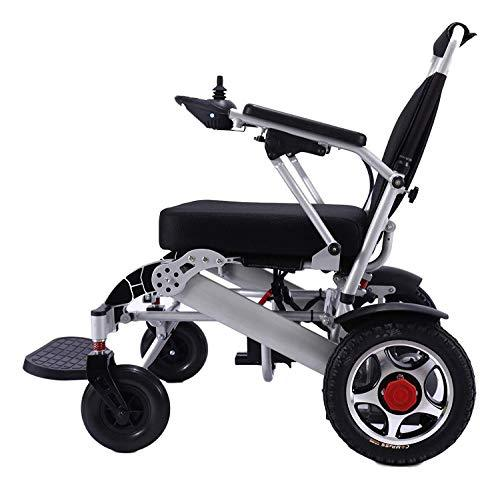 "Electric Wheelchair for Adults, Lightweight Folding Carry Power Wheelchair, Compact Mobility Aid Wheel Chair, Portable Power Motorized Mobility Aid Scooter, FDA Registered (Silver Seat Width 19"") - Spirit Mobility"