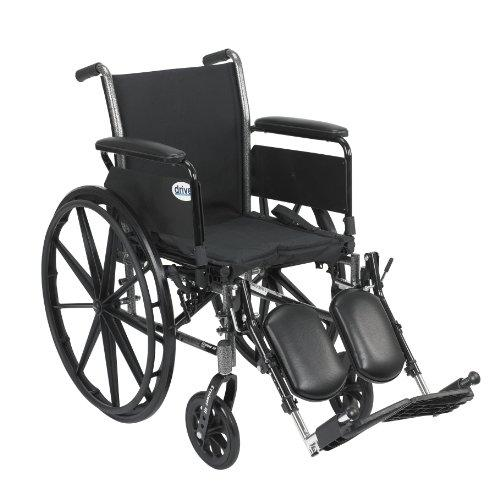 Drive Medical Cruiser III Light Weight Wheelchair with Various Flip Back Arm Styles and Front Rigging Options, Flip Back - Spirit Mobility