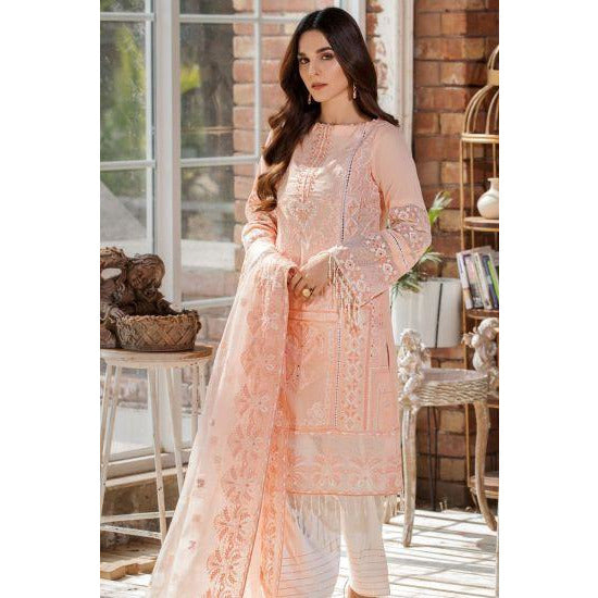2444-SOFT-AMBER EMBROIDERED LAWN UNSTITCHED