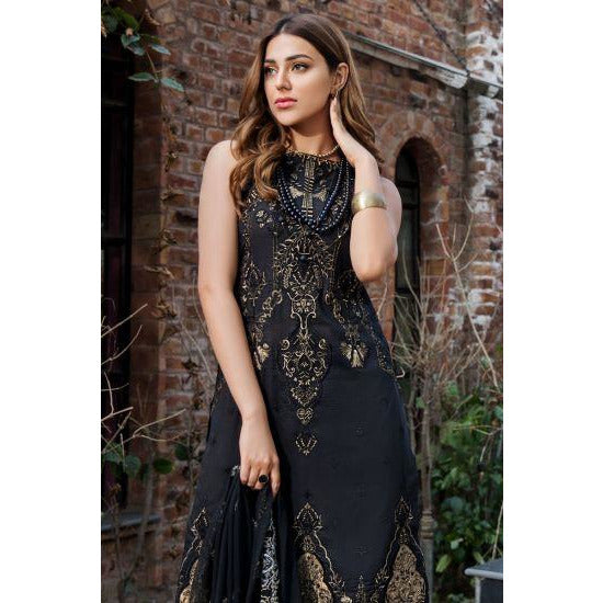 2456-BLACK-JEWEL EMBROIDERED LAWN UNSTITCHED