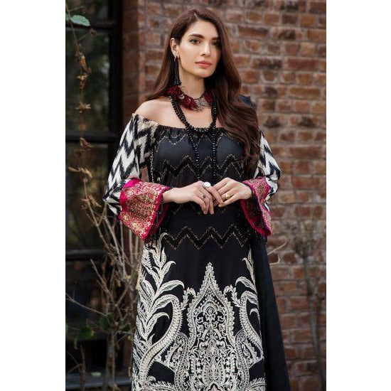 2450-BLACK-ELEGANCE EMBROIDERED LAWN UNSTITCHED