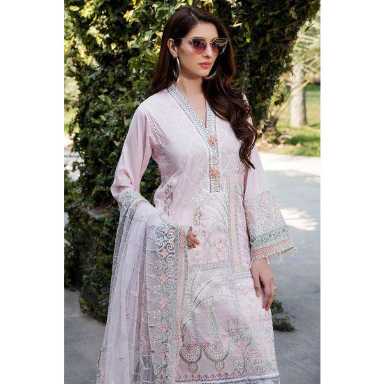 2452-POWDER-PINK EMBROIDERED LAWN UNSTITCHED