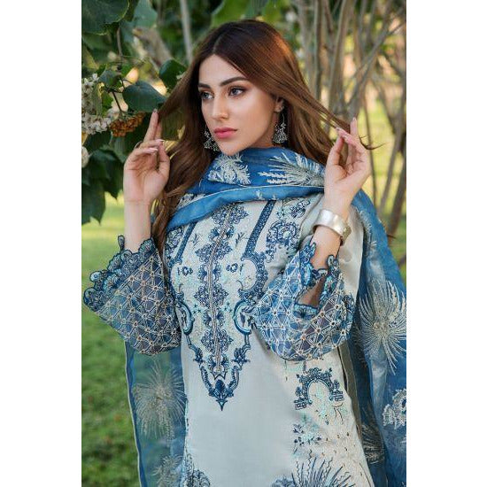 2455-QUILL-GREY EMBROIDERED LAWN UNSTITCHED