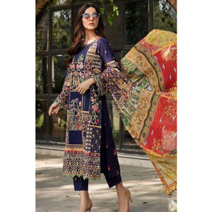 2460-COLD-PURPLE EMBROIDERED LAWN UNSTITCHED