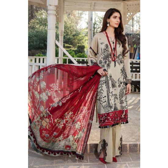 2443-MIST-GREY EMBROIDERED LAWN UNSTITCHED