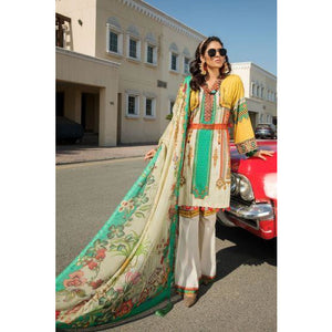 2515-GOLD-SAND DIGITAL PRINTED LAWN UNSTITCHED
