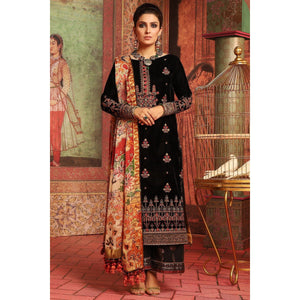2 Piece Embroidered Suit with Satin Silk Dupatta sheikhnstyle