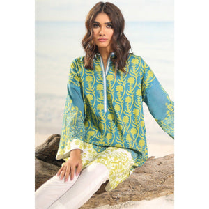 2 Piece Printed Suit with Cambric Trouser sheikhnstyle
