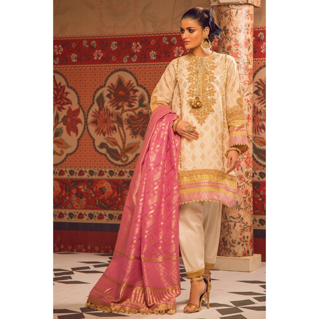 3 Piece Embroidered Jacquard Suit SheikhInStyle