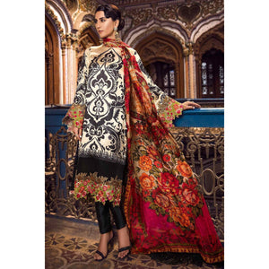 3 Piece Embroidered Silk Collection-Bg sheikhnstyle