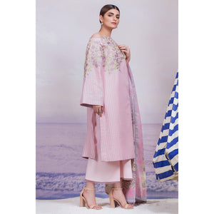 3 Piece Embroidered Suit with Voile Dupatta sheikhnstyle